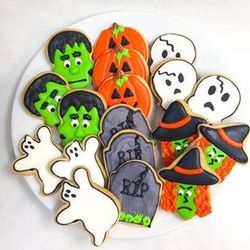 Halloween Party Sugar Cookie Gift Tin