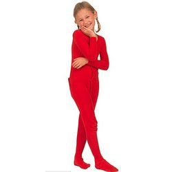 Red Dropseat Pajamas for Girls