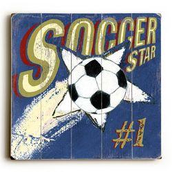 Soccer Star I Vintage Sign