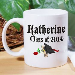 Diploma Rose Personalized Graduation Coffee Mug