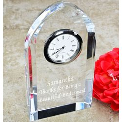 Personalized Crystal Arch Clock