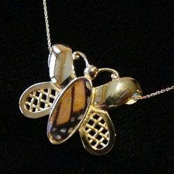 Gold Plated Butterfly Slide Pendant