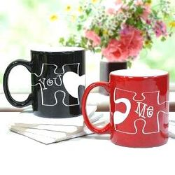 You or Me Puzzle Piece Coffee Mug