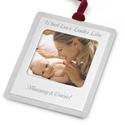 Picture Frame Flat Christmas Ornament