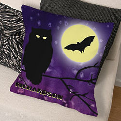 Personalized Halloween Night Throw Pillow