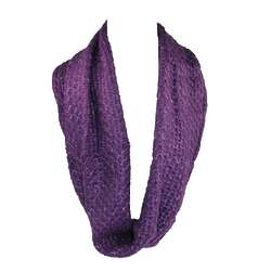 Metallic Large Knit Loop Scarf