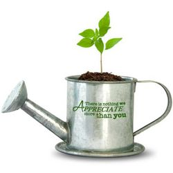 We Appreciate You Flower Pot with Basil Seeds
