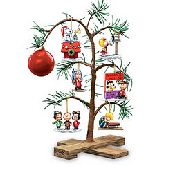 Peanuts Holiday Memories Tabletop Tree with Ornaments