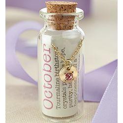 October Birthstone Bottle Necklace