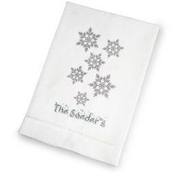 Snowflakes Holiday Hand Towel