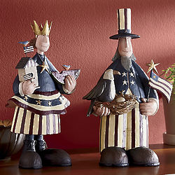 Patriot Couple Figurine