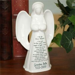 Personalized Memorial Angel Ceramic Figurine