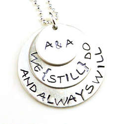 Personalized We Still Do Hand Stamped Necklace