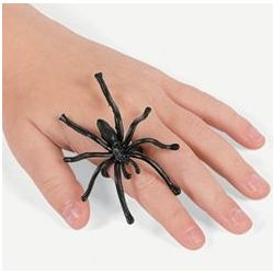 Plastic Spider Rings