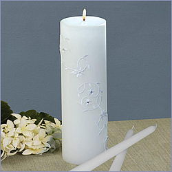 Sparkling Entwined Unity Candles