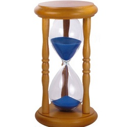 5 Minute Hourglass Sand Timer with Blue Sand