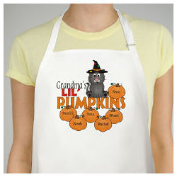 Lil Pumpkins Personalized Halloween Apron