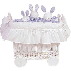 French Wicker Toy Basket