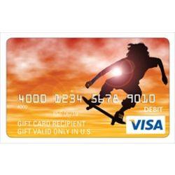 Skateboarder Visa Gift Card