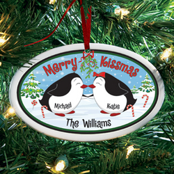 Personalized Merry Kissmas Ornament