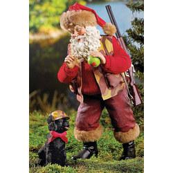 Hunting Outdoorsman Santa Figurine