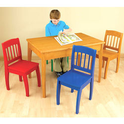 Euro Table and 4 Chair Set in Honey