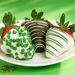 6 St. Patrick's Day Chocolate Covered Strawberries