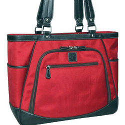 "Sellwood 17"" Red Laptop Tote"