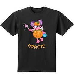 Personalized Sesame Halloween Black T-Shirt