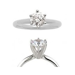 0.50 Carat Round Cut Solitaire Engagement Ring