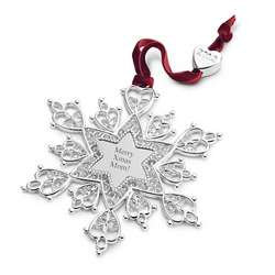 Heirloom Snowflake Christmas Ornament