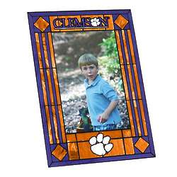 Clemson University Tigers Art Glass Picture Frame