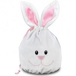 Bunny Plush Bag with Squares Chocolates