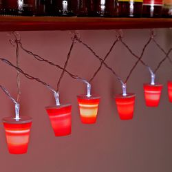 Red Cups String Lights