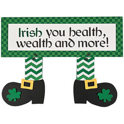 Leprechaun Feet Wooden Sign Decor