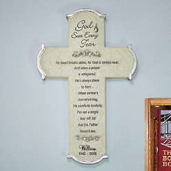 Engraved God Sees Every Tear Memorial Wall Cross