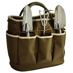 Multi-Pocket Gardening Tote Bag and Tools