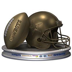 Dallas Cowboys Football and Helmet Sculpture