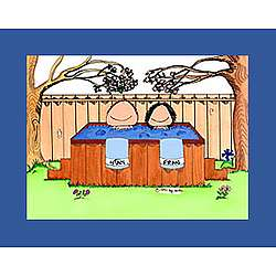 Personalized Hot Tub Cartoon