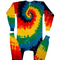 Rainbow Spiral Union Suit