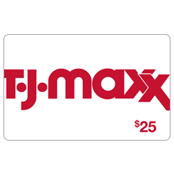 TJ Maxx $25 White Gift Card