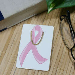 Pink Hope Ribbon Breast Cancer Awareness Bookmark