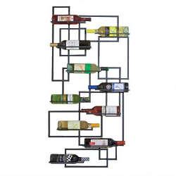 Mid Century Wall Mounted Wine Rack