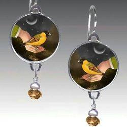 Bird in Hand Earrings