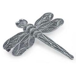 Filigree Dragonfly Silver Brooch