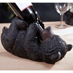 Black Bear Wine Bottle Holder