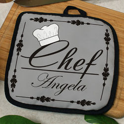 Personalized Chef Pot Holder