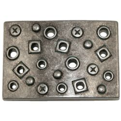 Plaque Buckle with Rivets and Screws