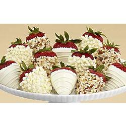 Dozen All White Dipped Strawberries