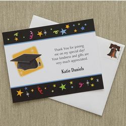 Personalized Let's Celebrate Graduation Thank You Notes